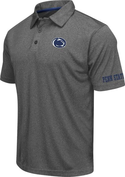 Colosseum Athletics Men's Penn State Nittany Lions Charcoal Performance Polo