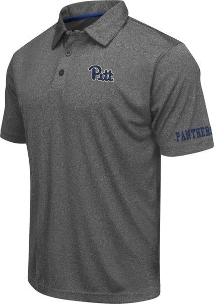 Colosseum Athletics Men's Pittsburgh Panthers Charcoal Performance Polo