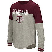 Colosseum Youth Girls' Texas A&M Aggies Grey Baton Long Sleeve Shirt