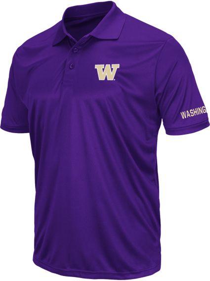 Colosseum Athletics Men's Washington Huskies Purple Performance Polo