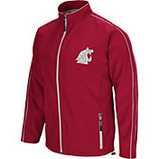 Colosseum Men's Washington State Cougars Crimson Barrier Full Zip Wind Jacket