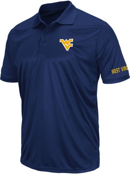 Colosseum Athletics Men's West Virginia Mountaineers Blue Performance Polo