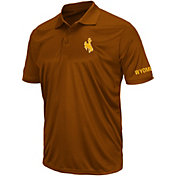 Colosseum Men's Wyoming Cowboys Brown Performance Polo
