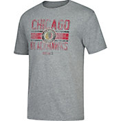 CCM Men's Chicago Blackhawks Line Brawl Heather Grey T-Shirt