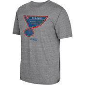 CCM Men's St. Louis Blues Big Logo Heather Grey T-Shirt