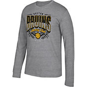 CCM Men's Boston Bruins Centennial Fly High Heather Grey Long Sleeve Shirt
