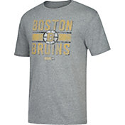 CCM Men's Boston Bruins Line Brawl Heather Grey T-Shirt