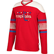 CCM Men's Washington Capitals Crew Grey Long Sleeve Shirt
