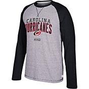 CCM Men's Carolina Hurricanes Crew Heather Grey/Black Long Sleeve Shirt
