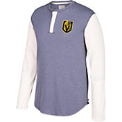 CCM Men's Vegas Golden Knights Henley Grey Long Sleeve Shirt