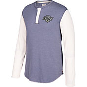 CCM Men's Los Angeles Kings Henley Grey Long Sleeve Shirt