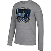 CCM Men's Tampa Bay Lightning Centennial Fly High Heather Grey Long Sleeve Shirt