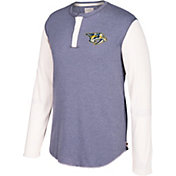CCM Men's Nashville Predators Henley Grey Long Sleeve Shirt