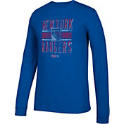 CCM Men's New York Rangers Line Brawl Royal Long Sleeve Shirt