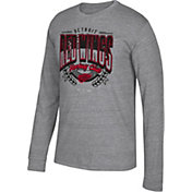CCM Men's Detroit Red Wings Centennial Fly High Heather Grey Long Sleeve Shirt