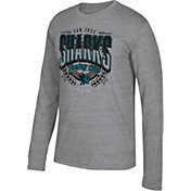 CCM Men's San Jose Sharks Centennial Fly High Heather Grey Long Sleeve Shirt