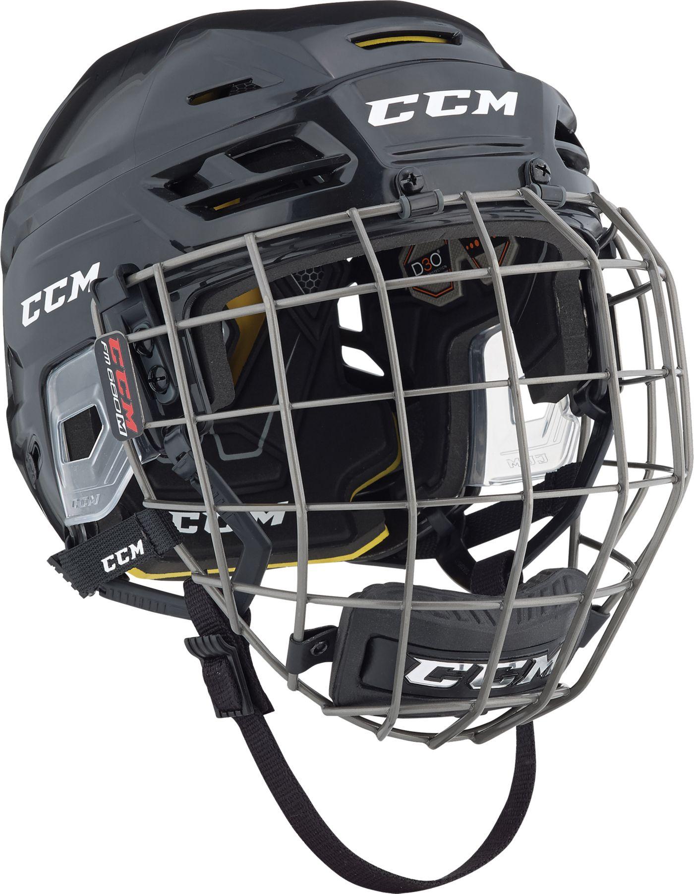 CCM Senior Tacks 310 Ice Hockey Helmet Combo