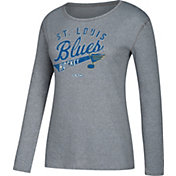 CCM Women's St. Louis Blues Open Season Grey Long Sleeve Shirt