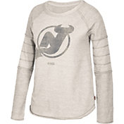 CCM Women's New Jersey Devils Grey Raglan Long Sleeve Shirt