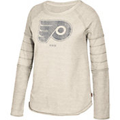 CCM Women's Philadelphia Flyers Grey Raglan Long Sleeve Shirt