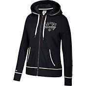 CCM Women's Los Angeles Kings Logo Fleece Black Full-Zip Hoodie