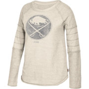 CCM Women's Buffalo Sabres Grey Raglan Long Sleeve Shirt