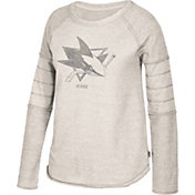 CCM Women's San Jose Sharks Grey Raglan Long Sleeve Shirt