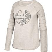 CCM Women's New York Islanders Grey Raglan Long Sleeve Shirt