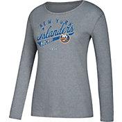 CCM Women's New York Islanders Open Season Grey Long Sleeve Shirt