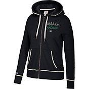 CCM Women's Dallas Stars Logo Fleece Black Full-Zip Hoodie