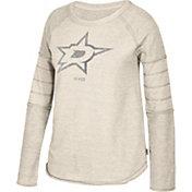 CCM Women's Dallas Stars Grey Raglan Long Sleeve Shirt