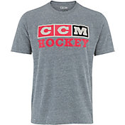 CCM Youth Vintage 3-Block Short Sleeve Hockey T-Shirt