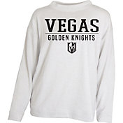 Concepts Sport Women's Vegas Golden Knights White Crew Fleece Sweatshirt