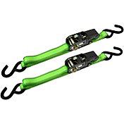 CargoLoc 8' S-Hook Ratchet Tie Down Straps- 2 Pack