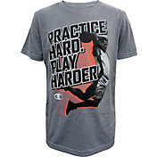 Champion Boys' Practice Harder Play Harder Graphic Basketball T-Shirt