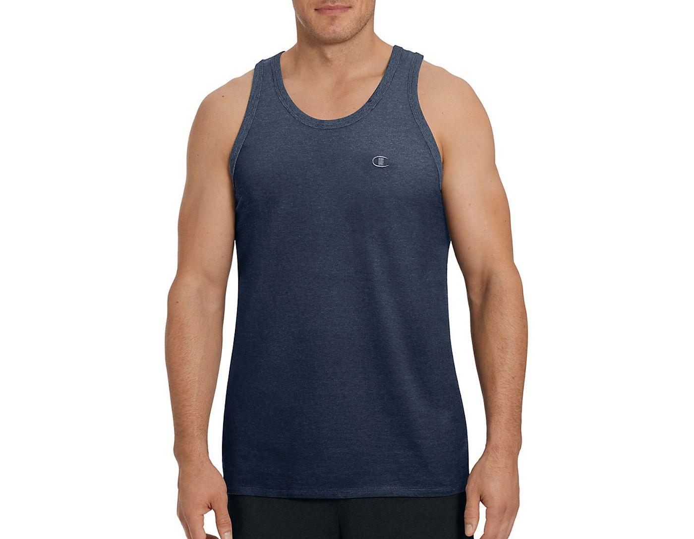 Champion Men's Classic Cotton Ringer Sleeveless Shirt