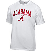 Champion Men's Alabama Crimson Tide White Word Logo T-Shirt