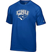 Champion Men's Christopher Newport Captains Royal Blue Logo T-Shirt