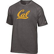 Champion Men's Cal Golden Bears Grey Big Logo T-Shirt