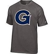 Champion Men's Georgetown Hoyas Grey Big Logo T-Shirt