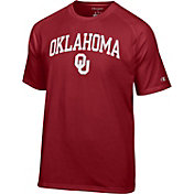 Champion Men's Oklahoma Sooners Cardinal Red Word Logo T-Shirt