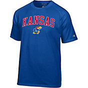 Champion Men's Kansas Jayhawks Blue Word Logo T-Shirt