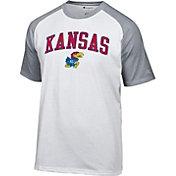 Champion Men's Kansas Jayhawks White Logo T-Shirt