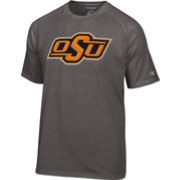 Champion Men's Oklahoma State Cowboys Grey Big Logo T-Shirt