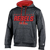 Champion Men's Ole Miss Rebels Grey T-Formation Hoodie