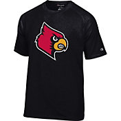 Champion Men's Louisville Cardinals Black Big Logo T-Shirt