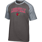 Champion Men's Louisville Cardinals Grey Logo T-Shirt