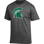 Champion Men's Michigan State Spartans Grey Big Soft T-Shirt
