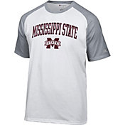 Champion Men's Mississippi State Bulldogs White Logo T-Shirt