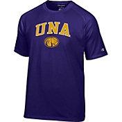 Champion Men's North Alabama  Lions Purple Logo T-Shirt